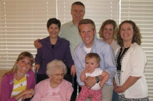 From L-R, Grandma, SIL Amy, Mom, Dad, Jenn, little sister Meg, little brother Zach, neice Tatum, Grandma